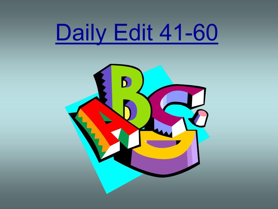Daily Edit 41-60