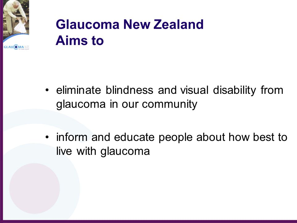 Glaucoma in General Practice The aim of this initiative is to: Compare the presentation of glaucoma and cataract in General Practice Address detection of glaucoma by optic disc assessment.