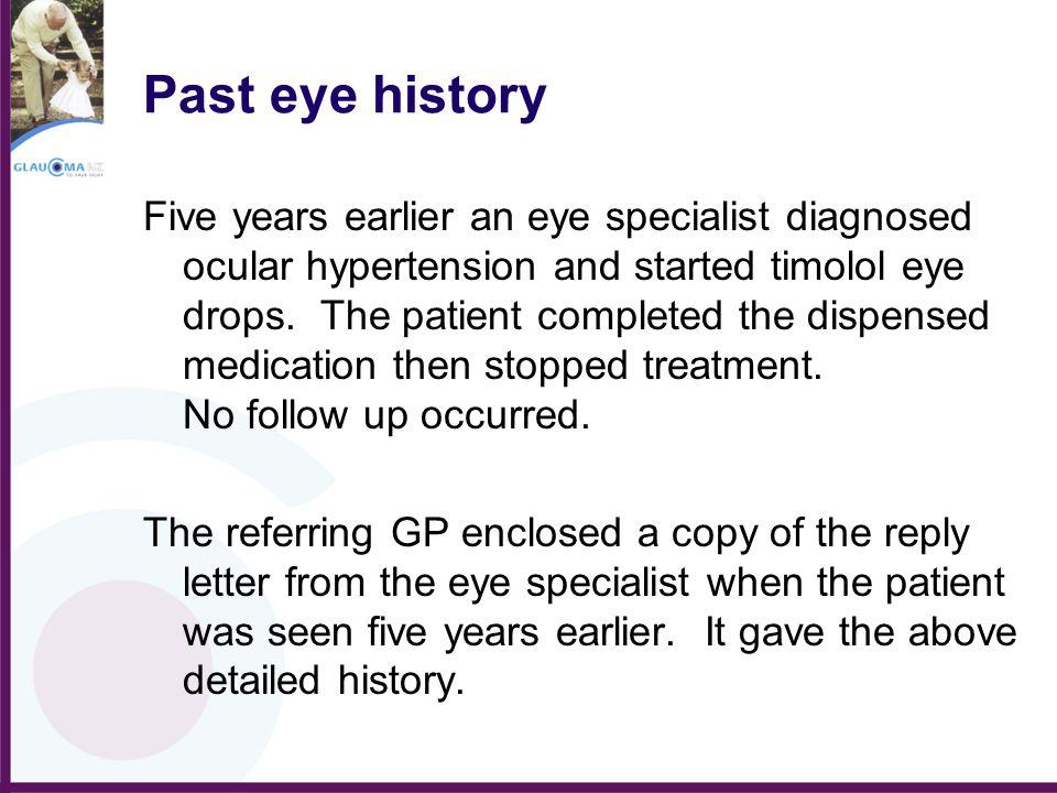 Ocular examination in 2008...