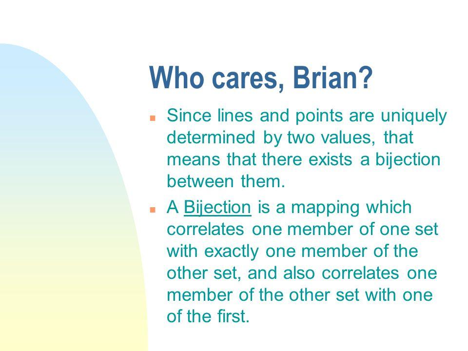 Who cares, Brian.