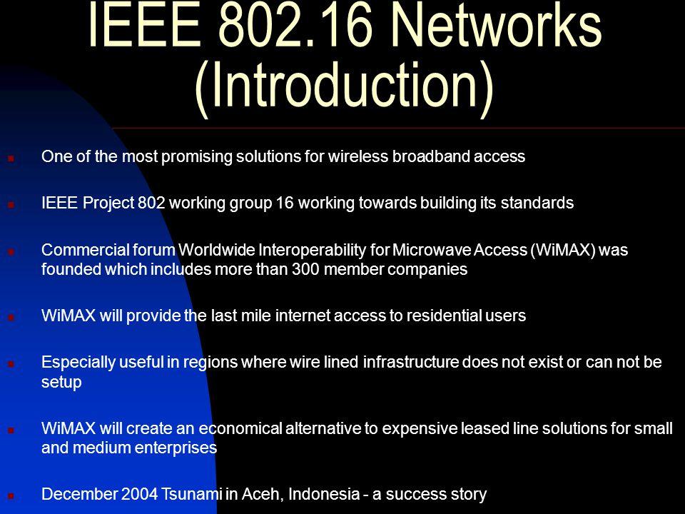 IEEE 802.16 Networks ( Contd.