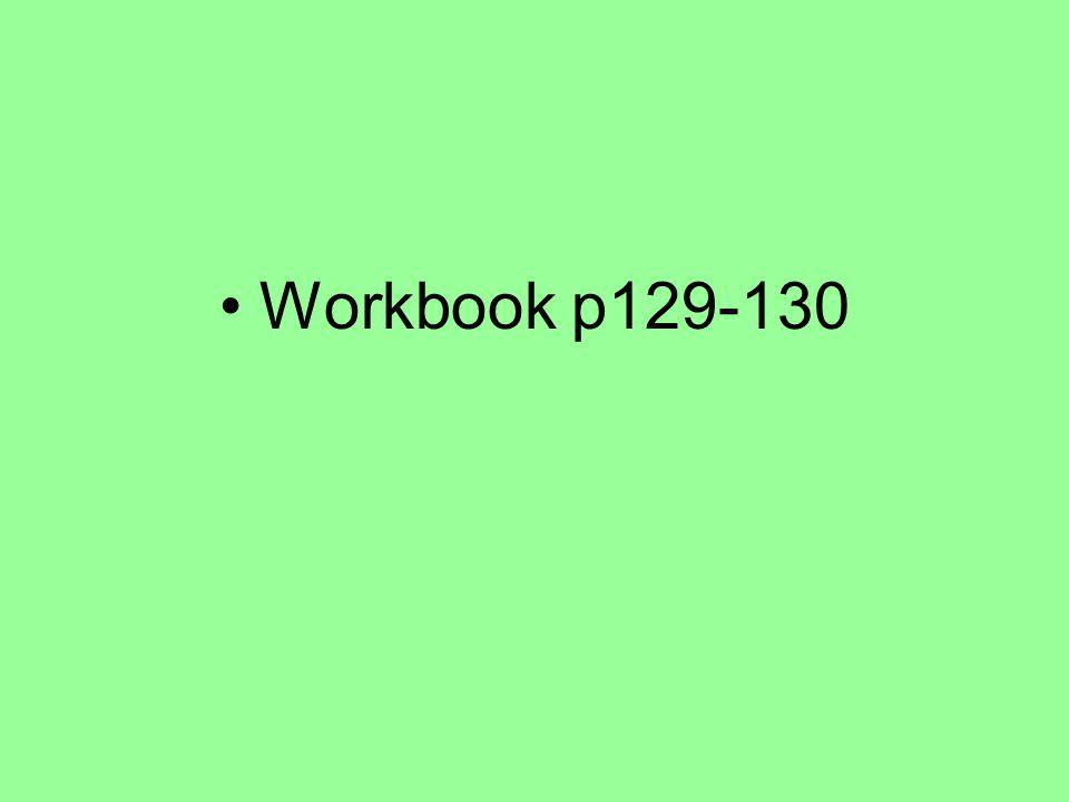 Workbook p129-130