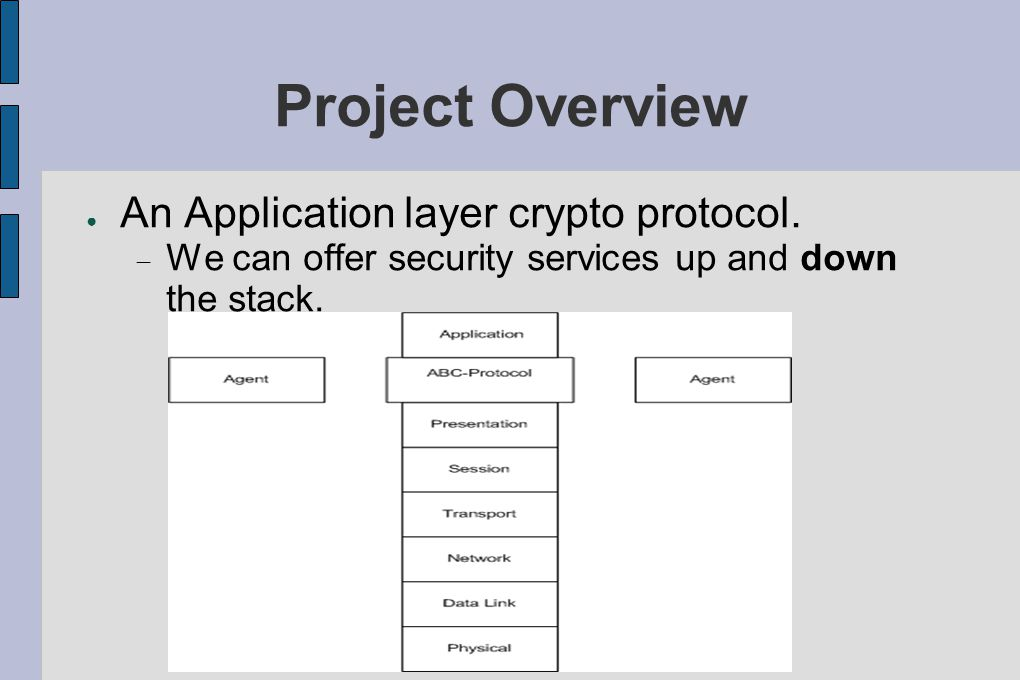 Project Overview ● An Application layer crypto protocol.