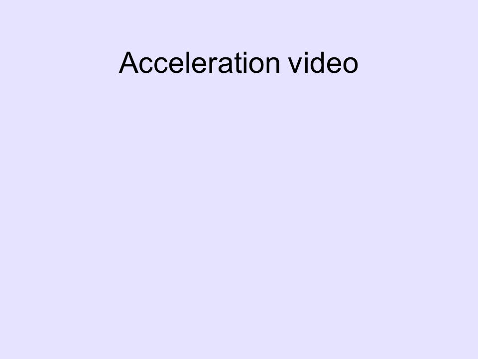 Acceleration video