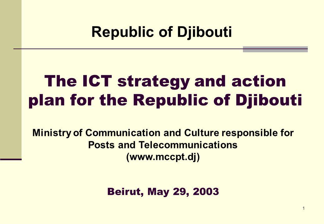 2 Programme I.Introduction II.Presentation of Djibouti III.ICTs @Djibouti IV.Why a strategy.