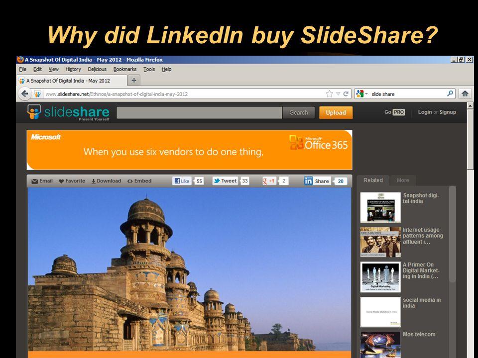 37 Why did LinkedIn buy SlideShare