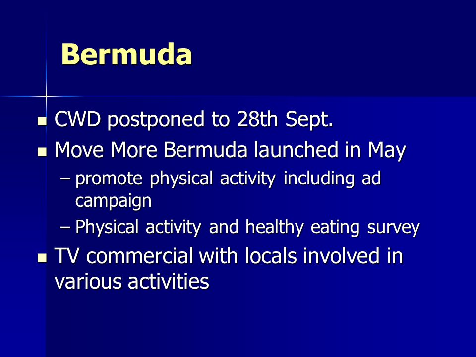 Bermuda CWD postponed to 28th Sept. CWD postponed to 28th Sept.