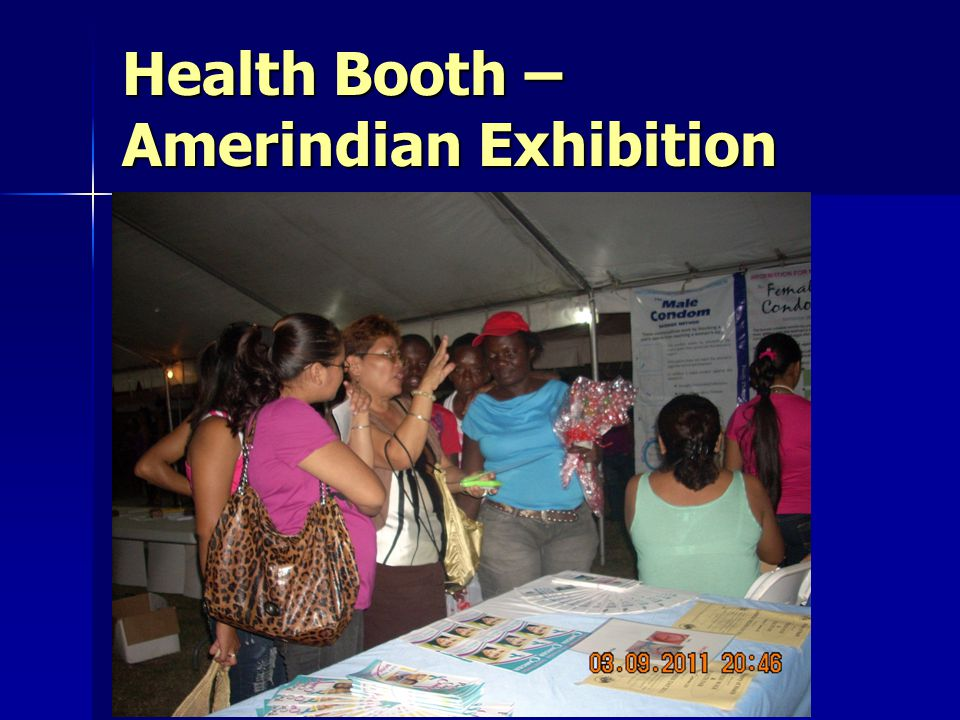 Health Booth – Amerindian Exhibition