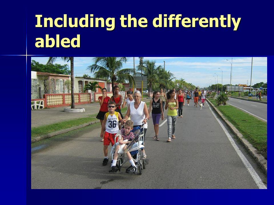 Including the differently abled