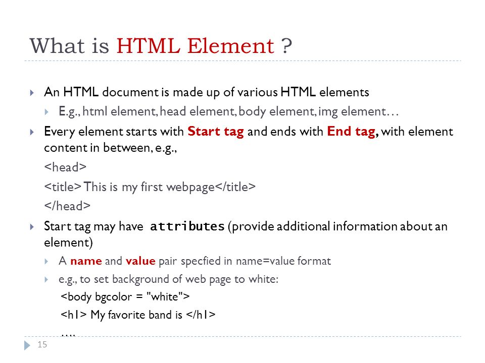 What is HTML Element .