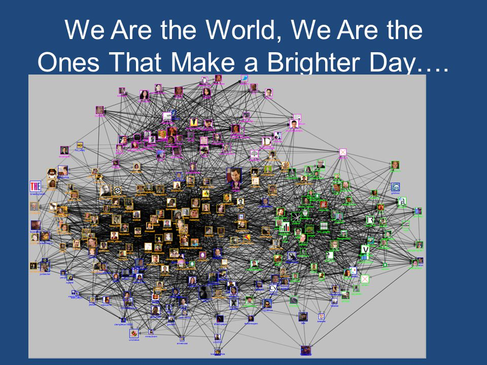 We Are the World, We Are the Ones That Make a Brighter Day….