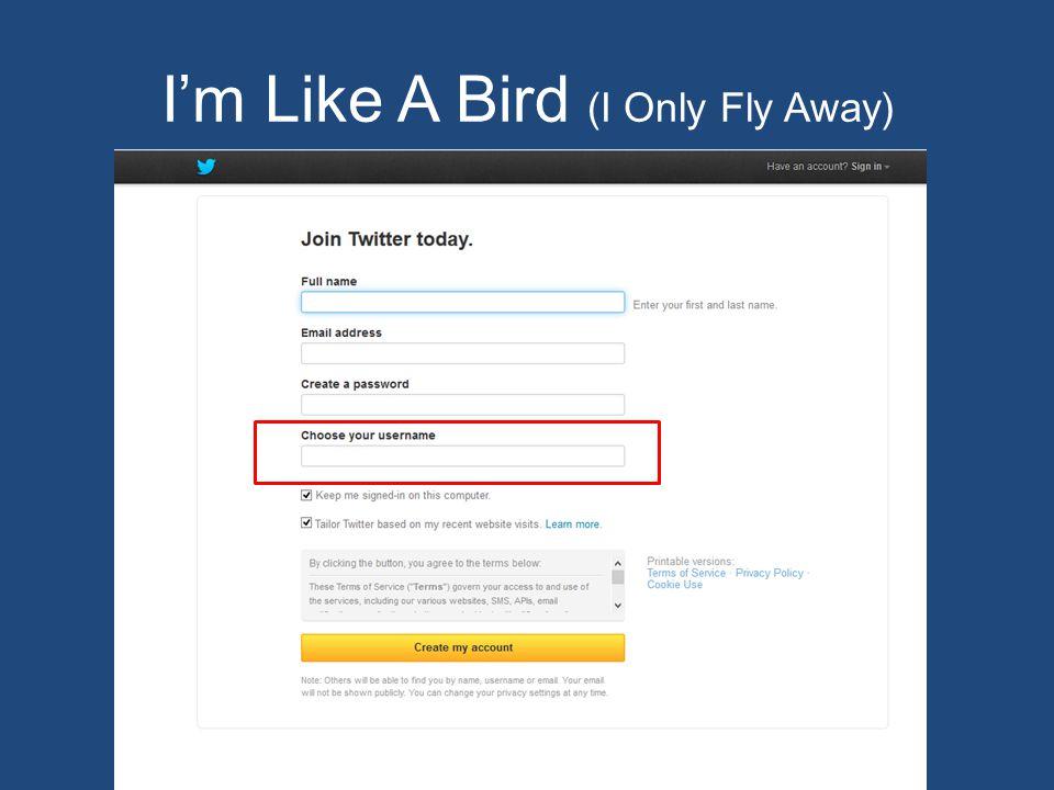 I'm Like A Bird (I Only Fly Away)