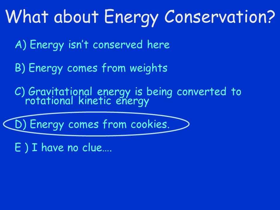 What about Energy Conservation.
