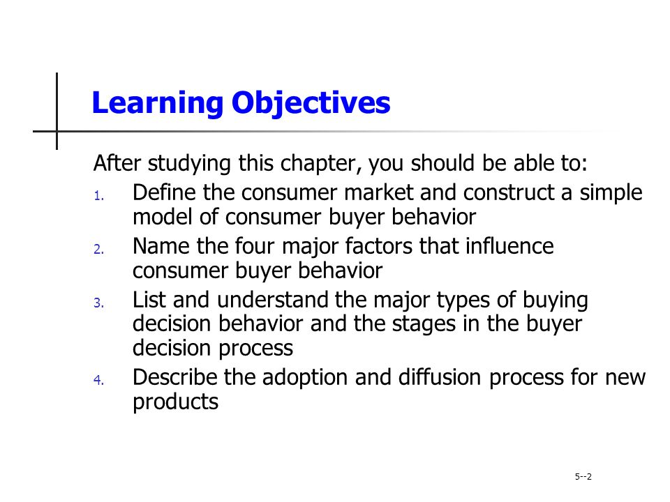 The Buyer Decision Process 5-41 Evaluation of Alternatives Evaluation of alternatives is how the consumer processes information to arrive at brand choices