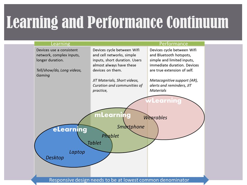 Learning and Performance Continuum