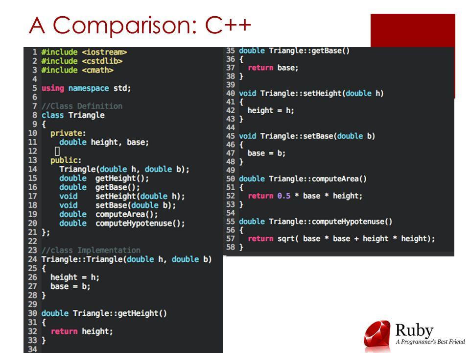 A Comparison: C++