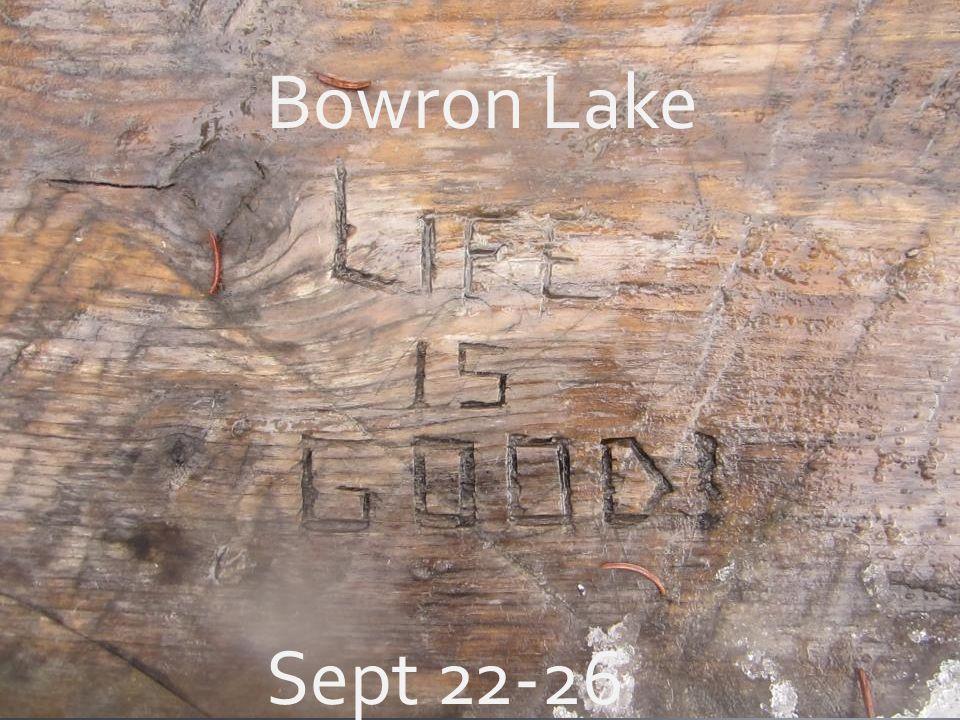 Bowron Lake Sept 22-26