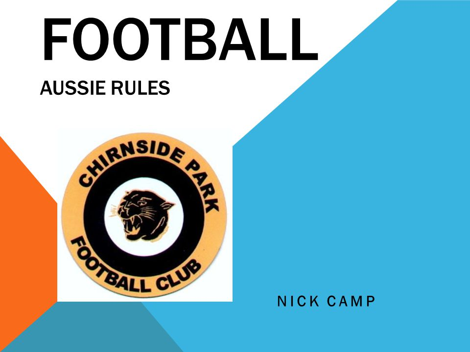 FOOTBALL AUSSIE RULES NICK CAMP