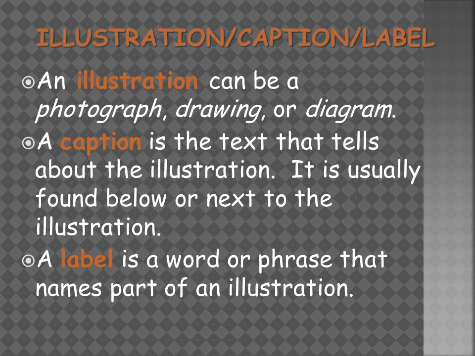  An illustration can be a photograph, drawing, or diagram.