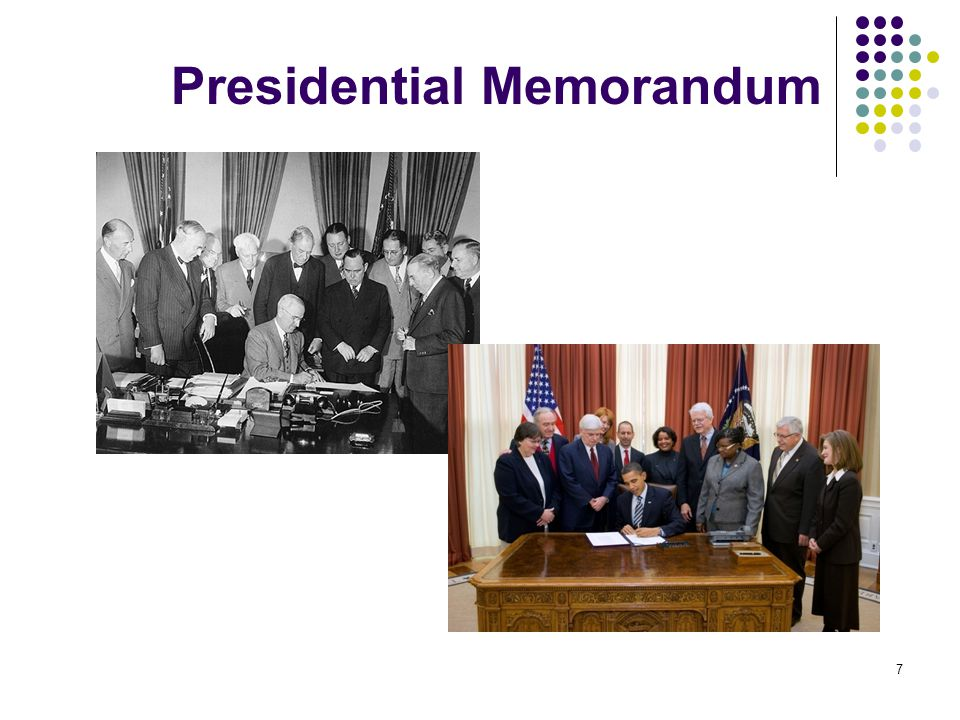 7 Presidential Memorandum