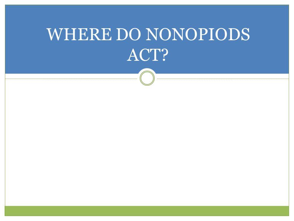 WHERE DO NONOPIODS ACT?