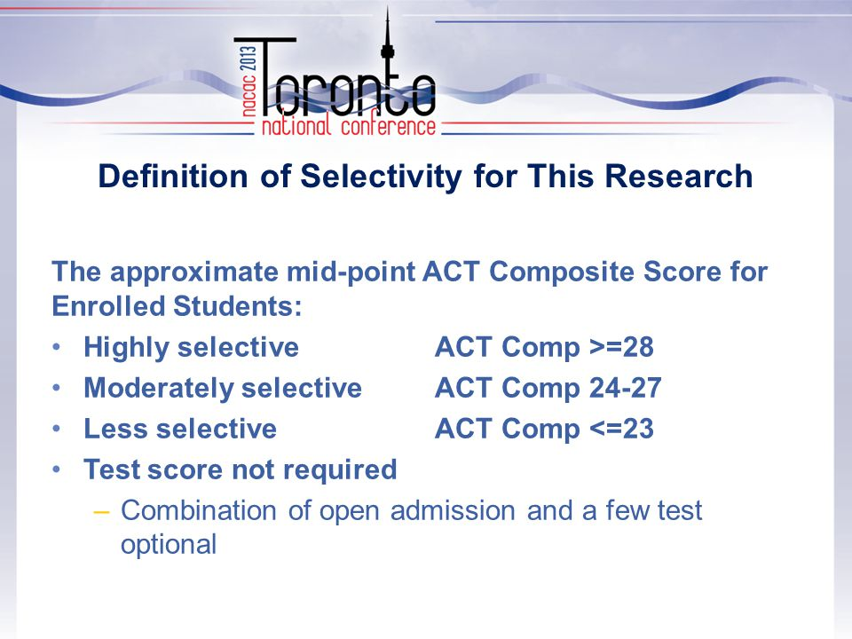 Students with ACT Comp 28-36: Selectivity of Enrolled College by Level of Parent Education