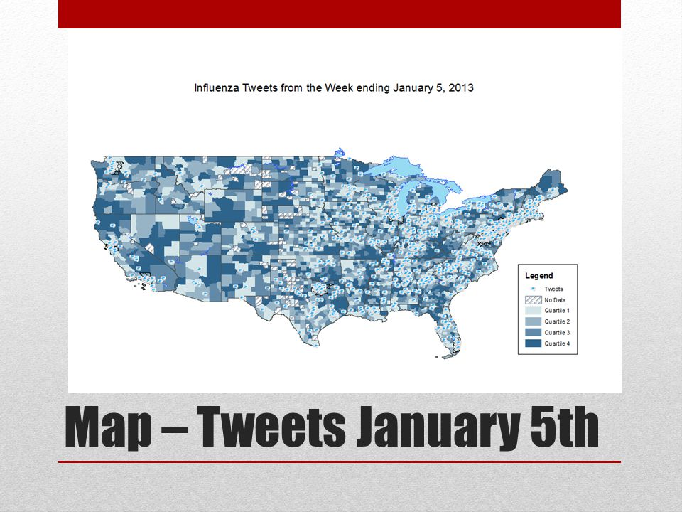 Map – Tweets January 5th