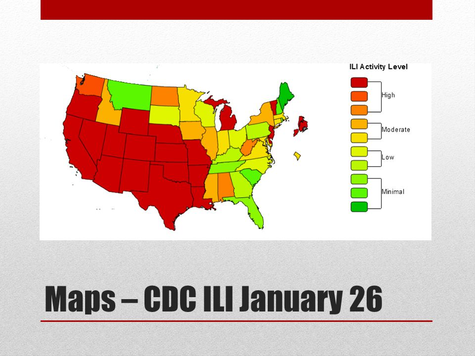 Maps – CDC ILI January 26