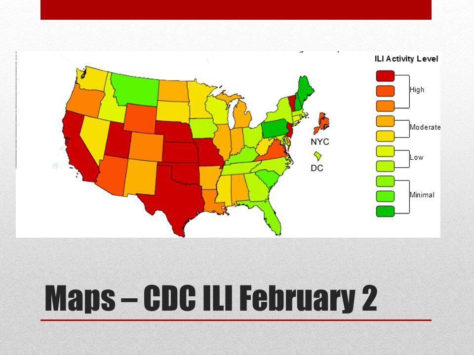 Maps – CDC ILI February 2