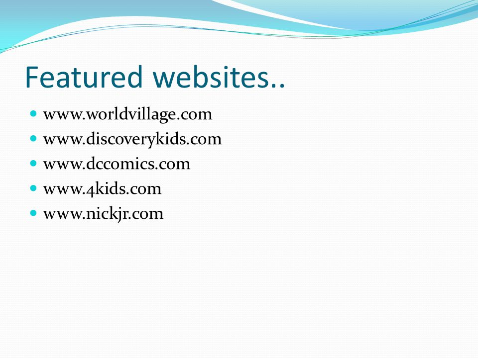 Featured websites..