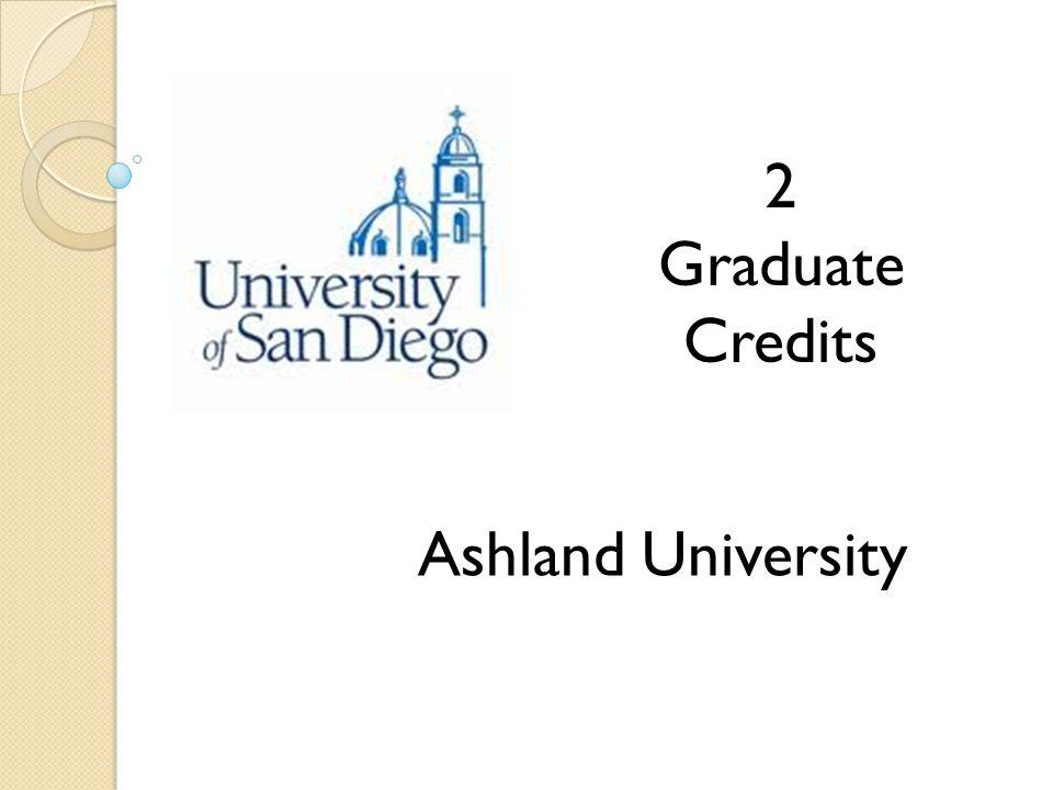 Ashland University 2 Graduate Credits