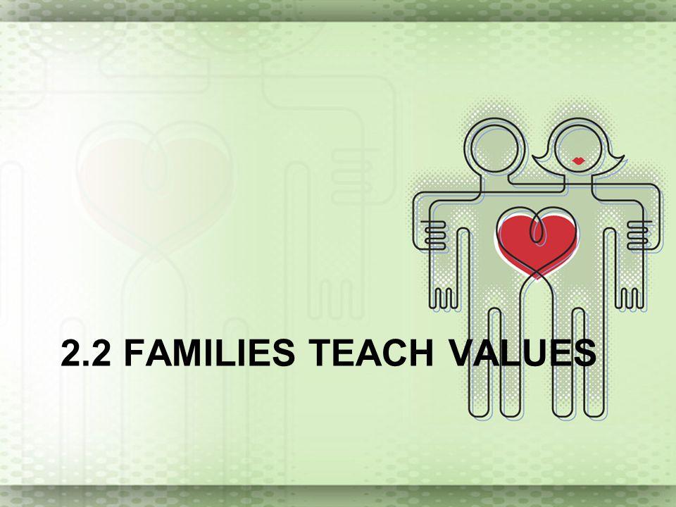 2.2 FAMILIES TEACH VALUES