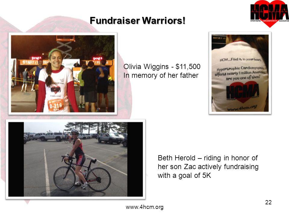 22 www.4hcm.org Fundraiser Warriors.