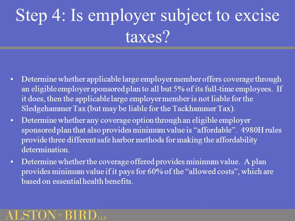 Step 4: Is employer subject to excise taxes.