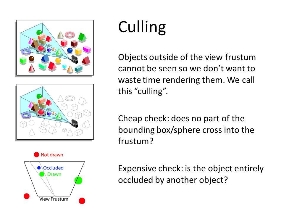 OPTIMISATION – implement levels of detail (LODs)