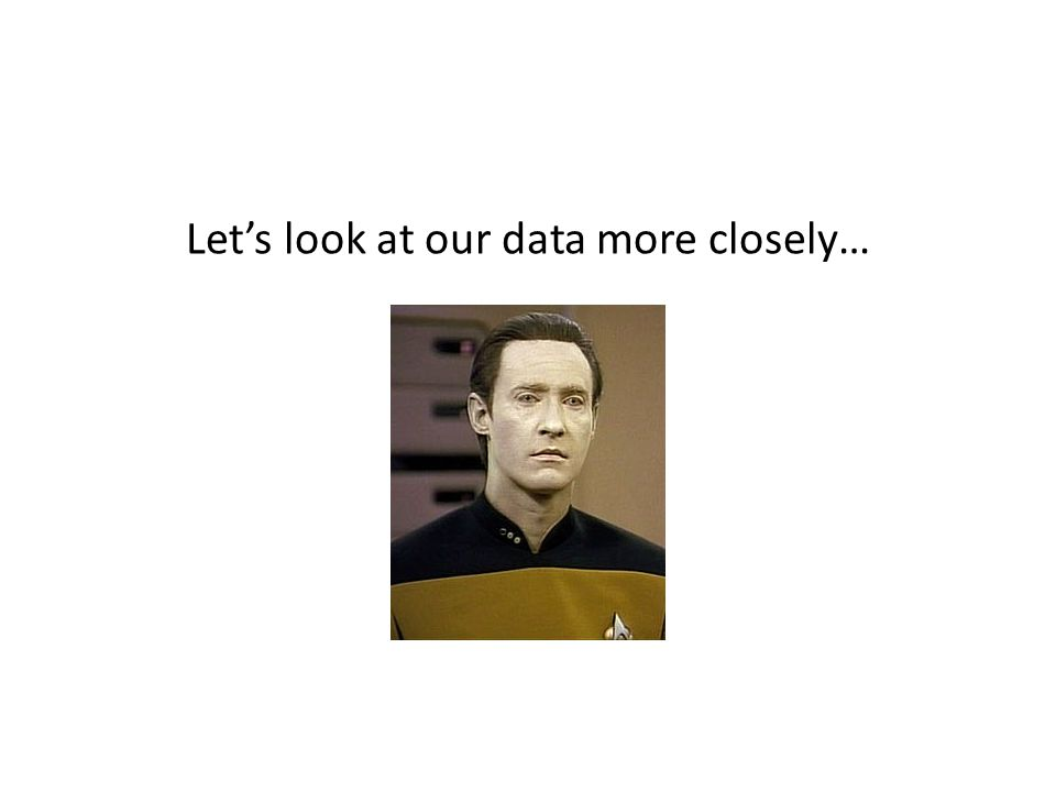Let's look at our data more closely…