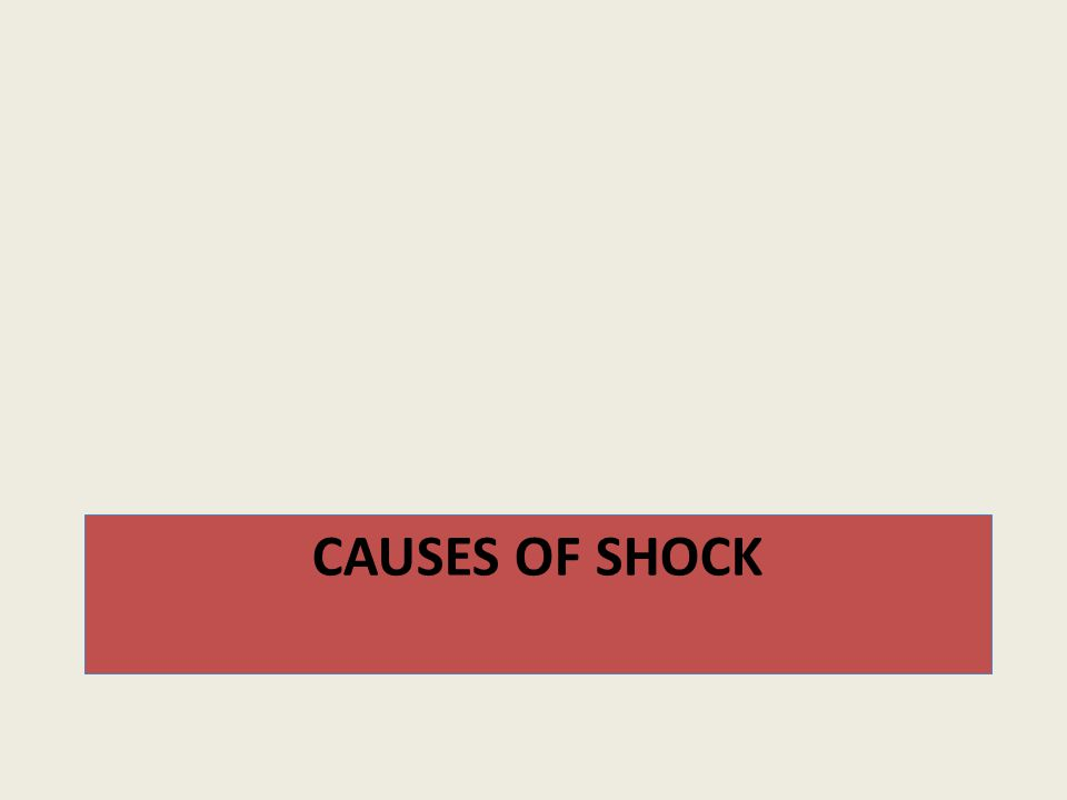 1- Hypovolemic shock A reduction in circulating blood volume may result from many conditions, including : A.hemorrhage e.g.