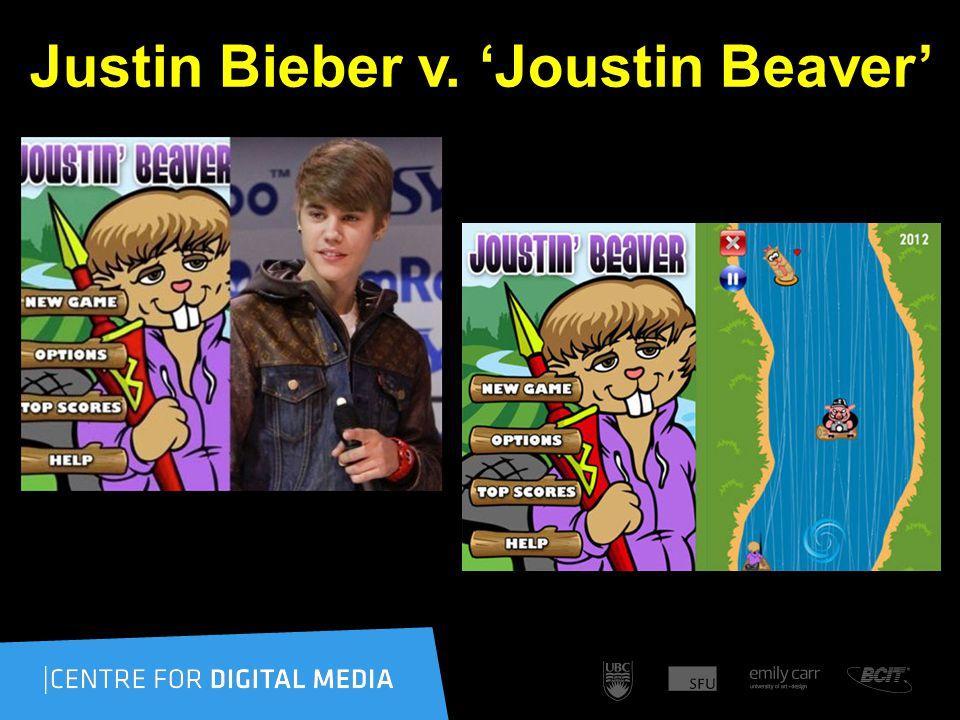 Justin Bieber v. 'Joustin Beaver' – Who cares