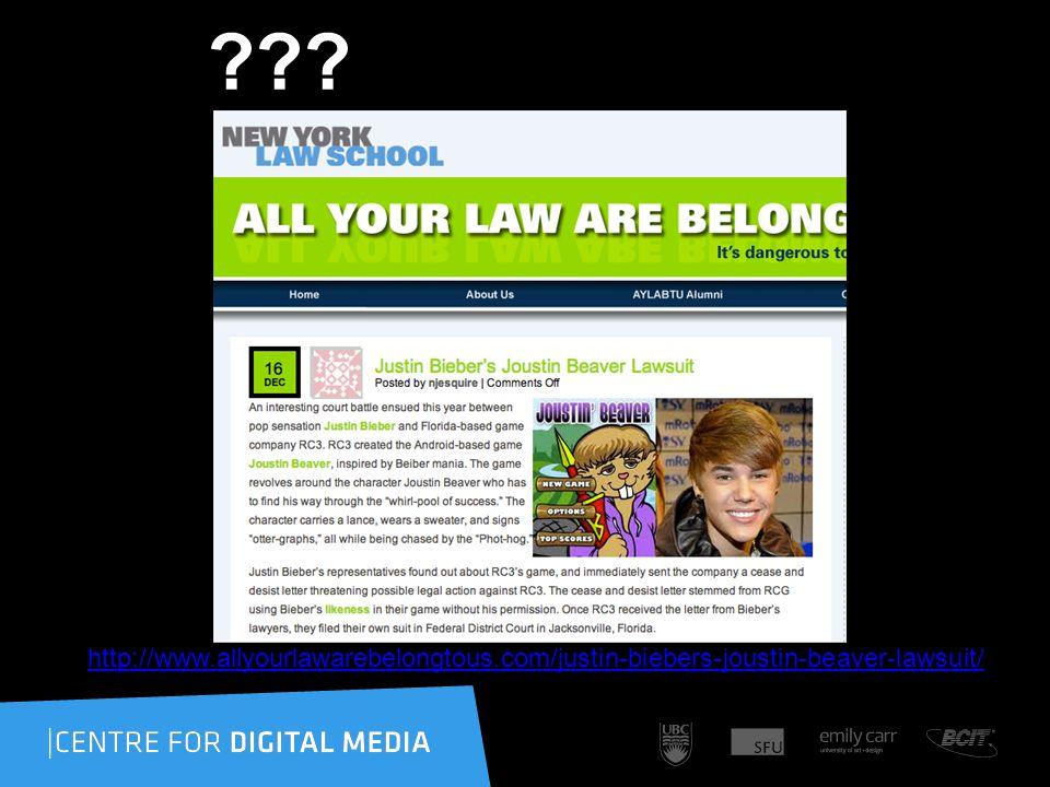 http://www.allyourlawarebelongtous.com/justin-biebers-joustin-beaver-lawsuit/