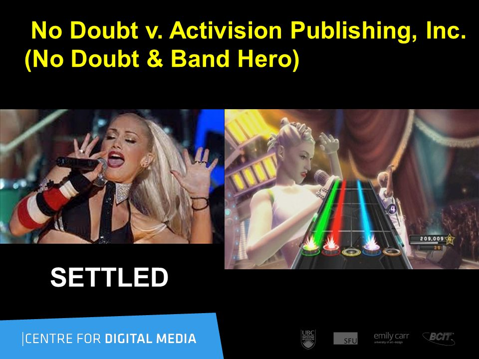 No Doubt v. Activision Publishing, Inc. (No Doubt & Band Hero) SETTLED