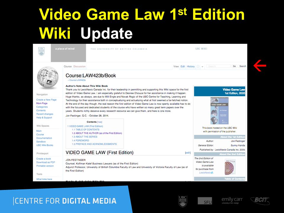 Video Game Law 1 st Edition Wiki Update 