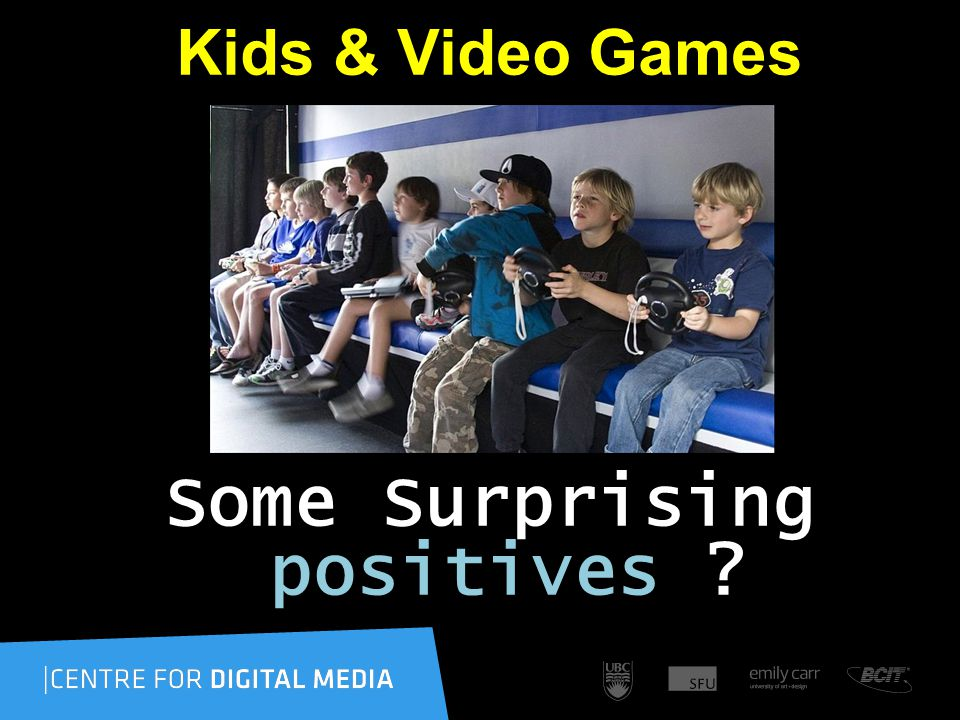 Kids & Video Games Some Surprising positives ??