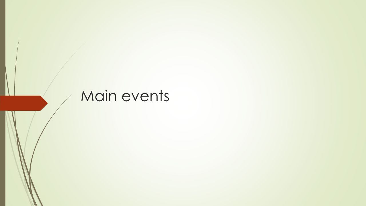 Main events
