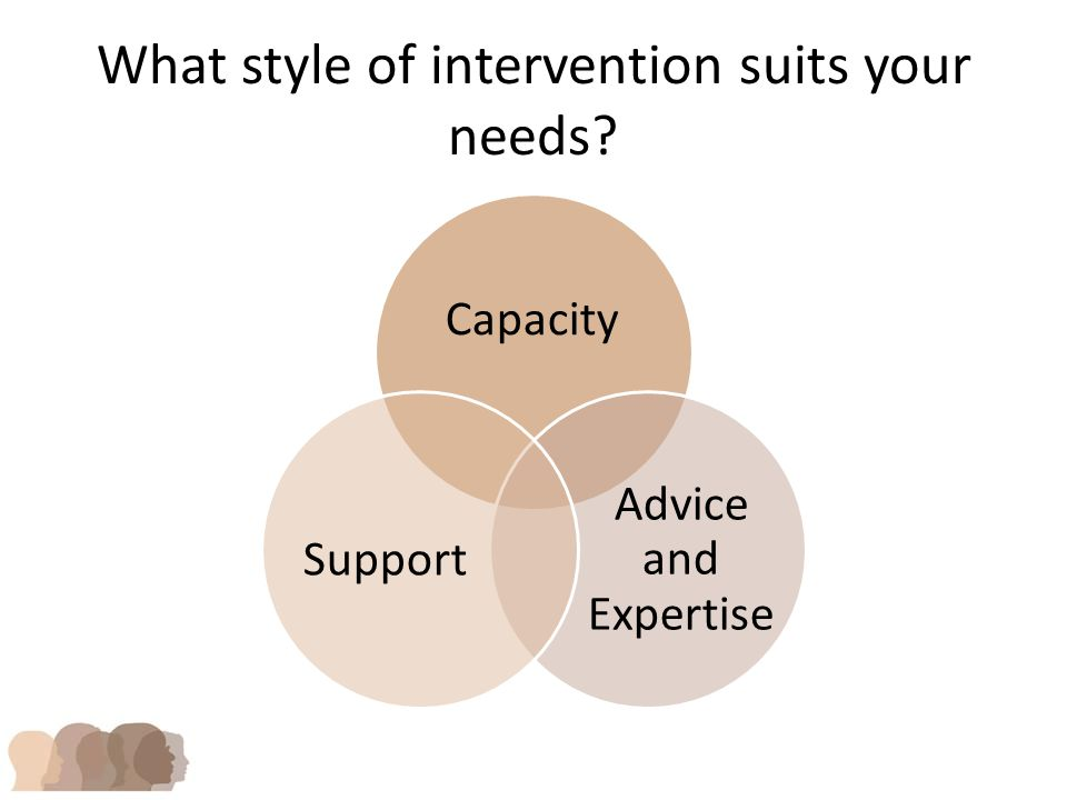 What style of intervention suits your needs Capacity Advice and Expertise Support