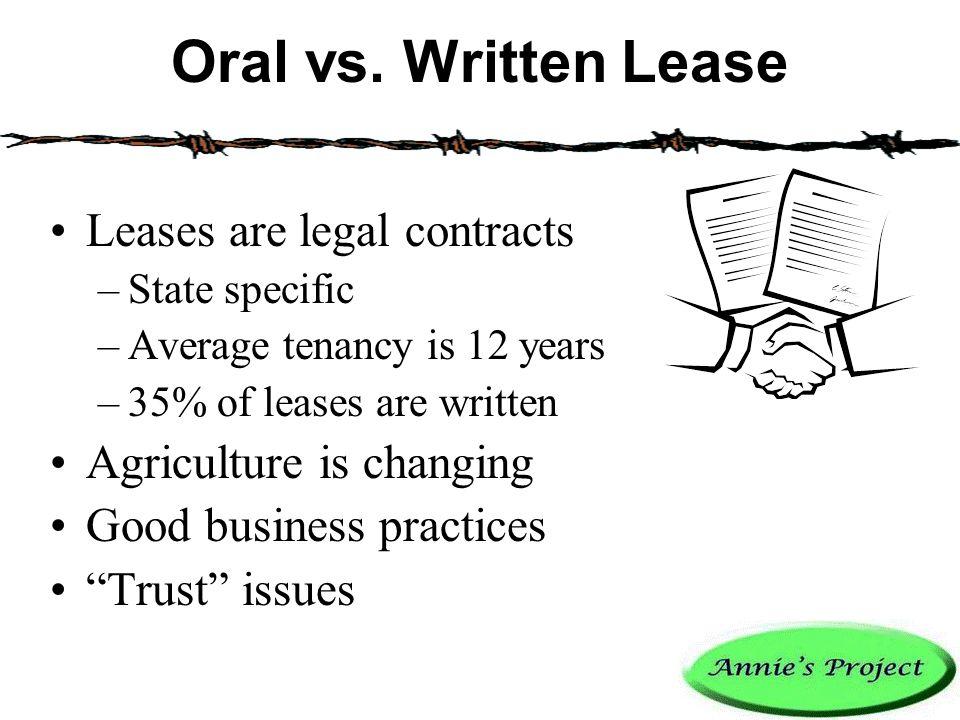 Oral vs.