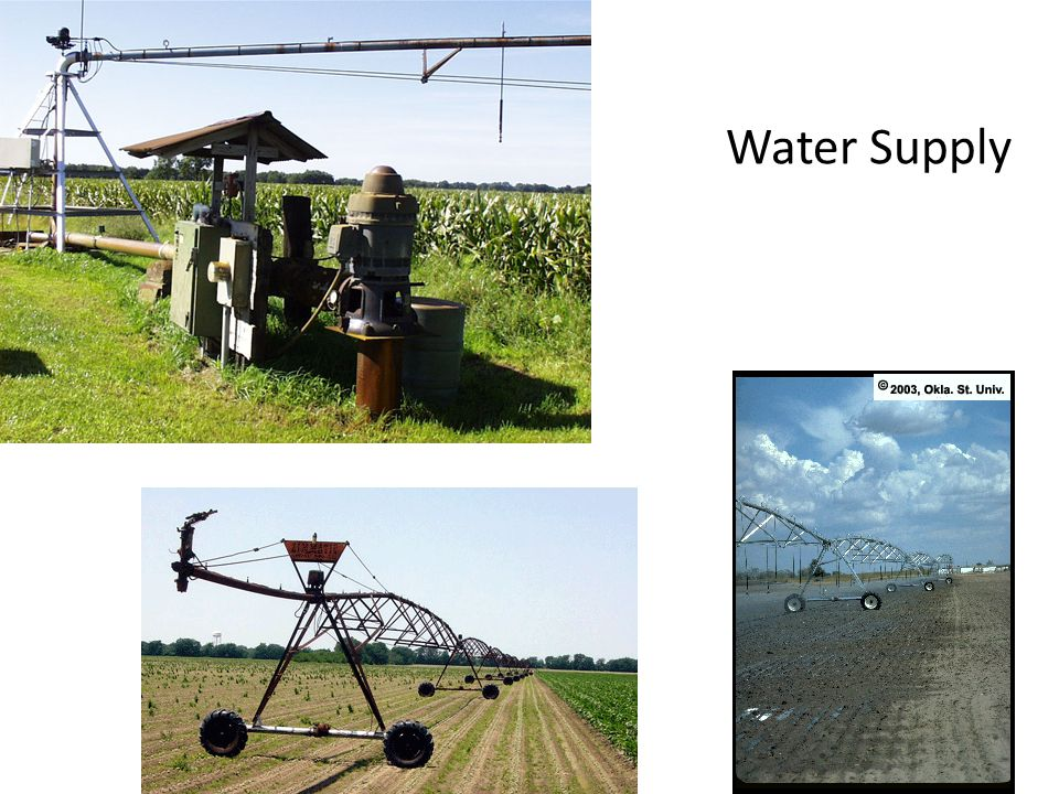 Do I have enough capacity to share Maximum water use for most crops is.27 -.32 in./day 3 gal/minute/acre pump capacity = 1 /week 5 gal/minute/acre pump capacity =.25 in./day 7 gal/minute/acre pump capacity =.33 in./day, 1 every 3 days 500 gal/minute pump can provide 1 every 4 days on 100 acres
