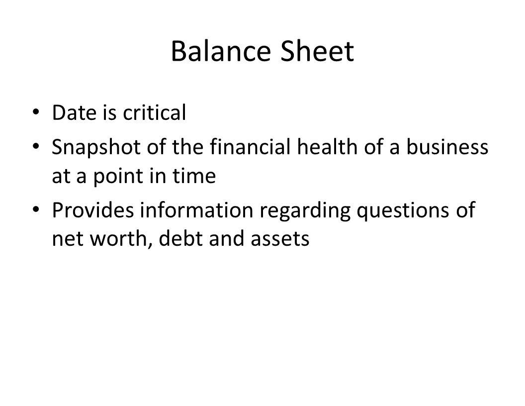 Balance Sheet Beginning Balance SheetEnding Balance Sheet Asset Liability Equity Profit
