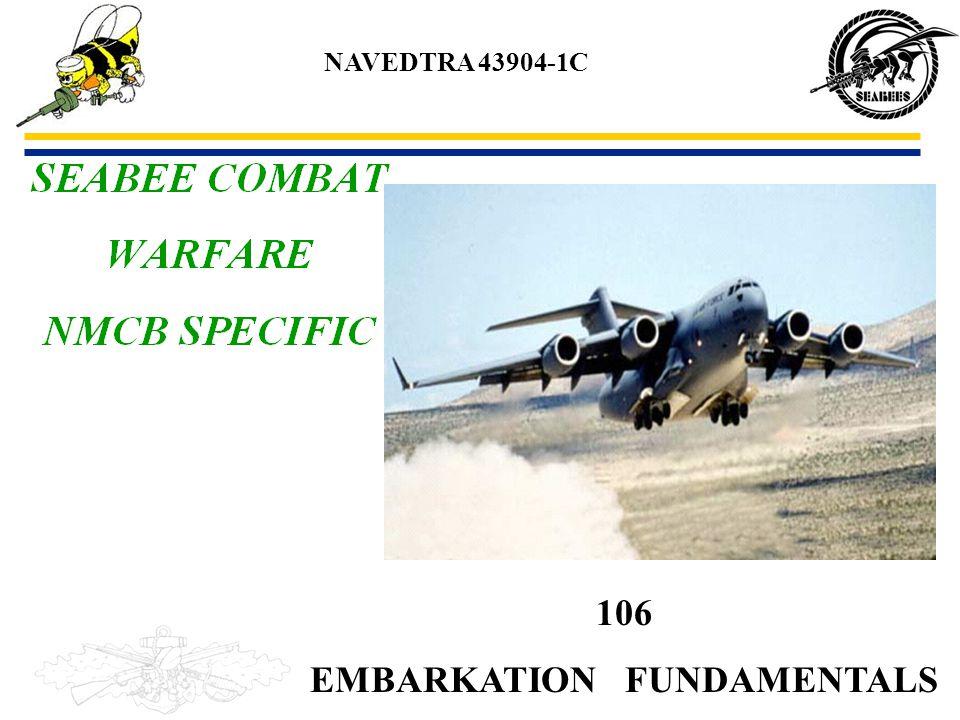 106 EMBARKATION FUNDAMENTALS NAVEDTRA 43904-1C