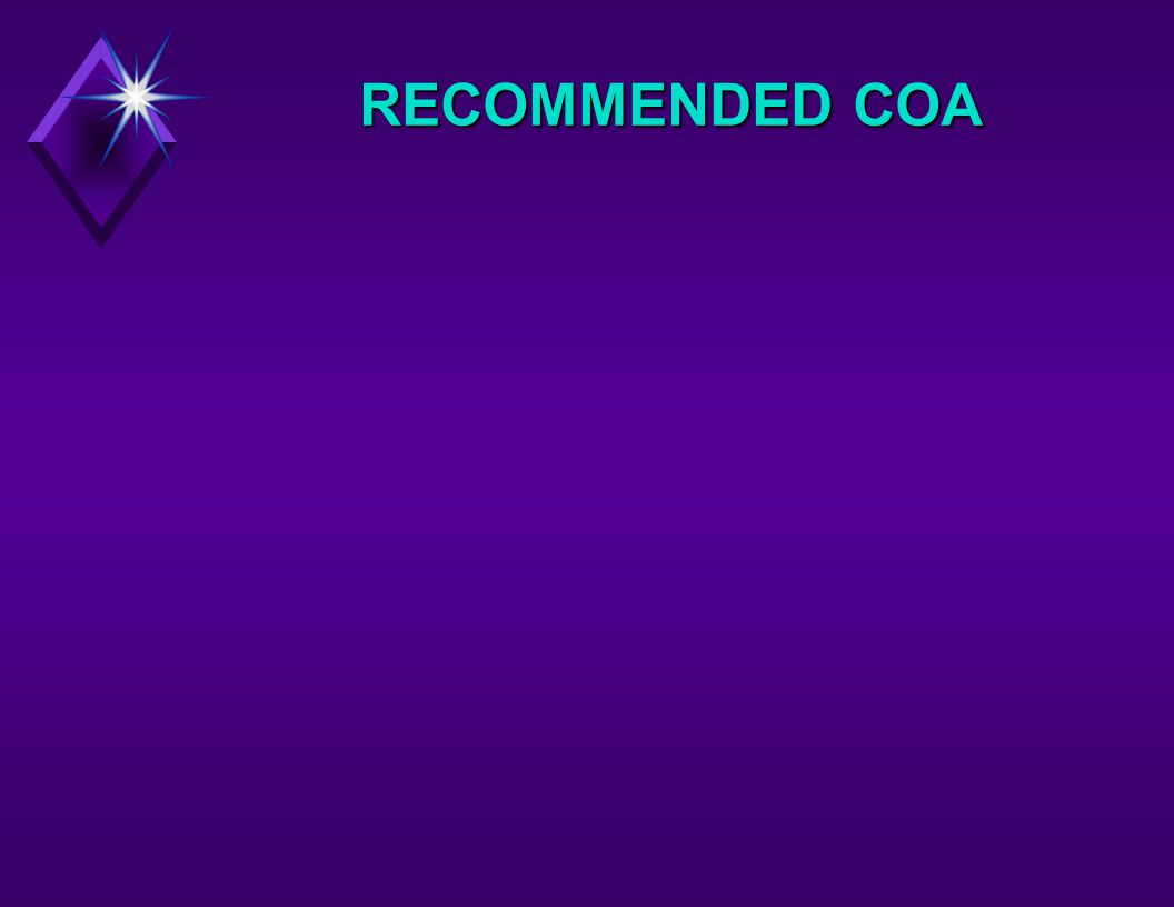 RECOMMENDED COA