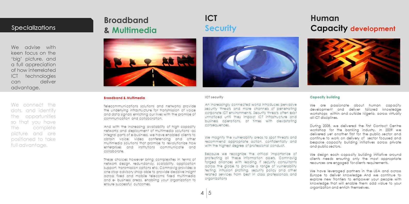 Broadband & Multimedia Telecommunications solutions and networks provide the underlying infrastructure for transmission of voice and data signals enri